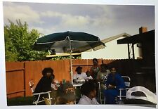 Vintage PHOTO African Black Backyard Pay To Eat Dinner BBQ For The Neighborhood