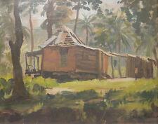 ORIGINAL SIGNED OIL PAINTING JULIAN BARROW FLORIDA HOUSE