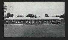 Crookston Minnesota MN c1950 Motel Country Club, Hwy 2 & 75 West, Old Car, Folks