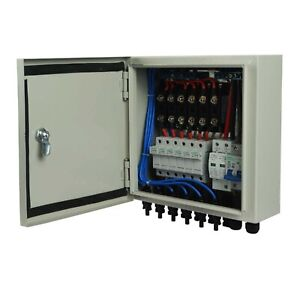 ECO-WORTHY Solar Combiner Box- Fused Pre-wired 6-String 10A Breakers Surge Pr...
