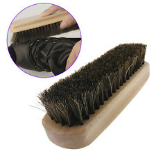 Wooden Handle Shoes Brush Polish Bristle Horse Hair Buffing Brush 12.5*3.5*2cm