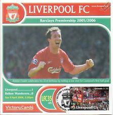 Liverpool 2005-06 Bolton W. (Robbie Fowler) Football Stamp Victory Card #535