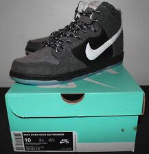 Nike Air Dunk PRM Premium High SB Petoskey Grey Black Sneakers Men's Size 10 New