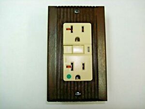 Vintage Uniline Brown Decora GFCI Switch Outlet Wall Cover Plate  GE Monowatt