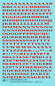 K4 HO Decals Red 3/16 Inch Penn Roman Letter Number Alphabet Set