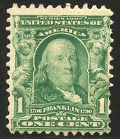 UNITED STATES  SCOTT#300  1c FRANKLIN   SINGLE  MINT NH--SCOTT VALUE $27.00