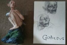 New Lord of the Rings Two Towers Set. Gollum Smeagol Figurine Box w Book Dvd Coa