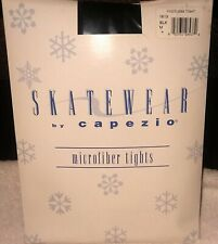 New 6 Pairs Women's Capezio Footless Ice Skating Tights Black M 1813 Free S&H