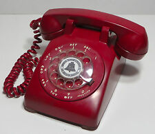 Vintage Telephone Western Electric Bell Phone 1950s Red Rotary Dial 500 C/D