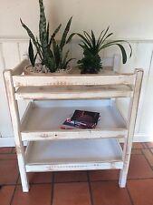Vintage Retro Styled Shabby Chic Baby Change Table Storage Unit Bookcase