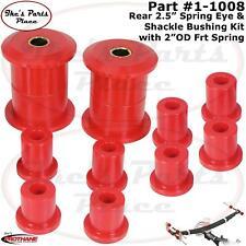 "Prothane 1-1008 Rear 2.5"" wide Leaf Spring Eye & Shackle Bushing Kit 70-83 AMC"