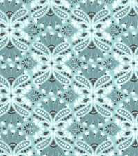 Flannel Fabric TEAL DAMASK Pattern 3 yards X 42 inches 100% Cotton