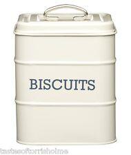 Kitchen Craft Cream Living Nostalgia Biscuit Barrel Storage Tin & Lid