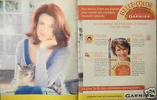 PUBLICITÉ 1997 BELLE COLOR LABORATOIRES GARNIER - CHAT - ADVERTISING