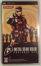 Metal Gear Solid PSP 2006 Portable OPS Japanese Version Classic KONAMI Gaming
