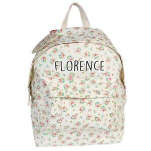 Personalised Floral Mini Backpack For Girls School Nursery Cute Kids