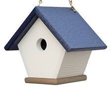 Recycled Plastic Wren House: Hanging Bird House Handmade from Eco Friendly Mater