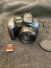 Canon PowerShot SX20 IS 12.1MP Digital Camera - Black With Memory Card And Lens