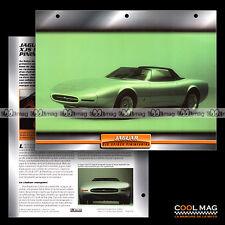 #101.09 ★ JAGUAR XJS SPIDER PINIFARINA 1978 ★ Prototype - Fiche Auto Car card