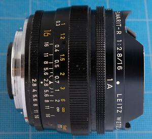 Vintage Leica Leitz Elmarit-R 16mm f2.8 Fisheye Lens with Filters Fungus!