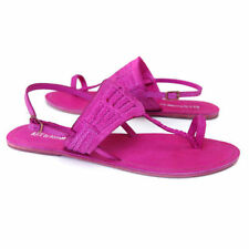 Buckle Flat (0 to 1/2 in.) Leather Slim Sandals & Flip Flops for Women