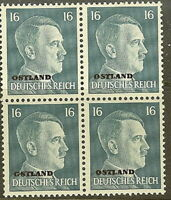Stamp Germany Ostland Mi 10 Block 1941 WW2 War Reich Hitler Estonia MNH