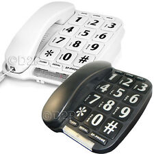BIG BUTTON LANDLINE HOME CORDED TELEPHONE LARGE JUMBO ELDERLY DESK WALL