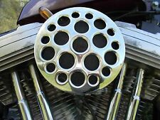Air Filter Cleaner Holy Drilled Chrome Cover S&S Super E Carb Carburetor Harley