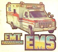 Original EMS EMT Ambulance Iron On Transfer Career