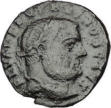 Severus II as Caesar 305AD Big RARE Ancient Roman Coin Genius  Wealth  i51098