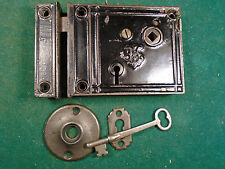 VINTAGE JACOBUS & NIMICK (J & N) RIM LOCK w/KEY & KEEPER - VERY NICE  (6870)