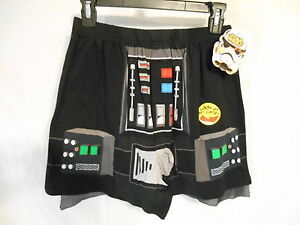 Star WARS Young Mens 100% Cotton Black  Novelty Boxers w/Cape SR$20 NEW