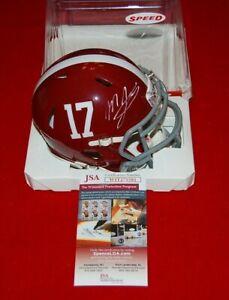MAC JONES ALABAMA CRIMSON TIDE signed speed mini helmet JSA witnessed COA 2