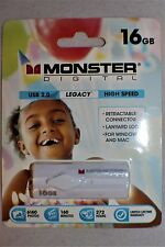 Monster Digital 16GB USB 2.0 High Speed Flash Drive Free First Class