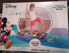 DISNEY MICKEY MOUSE INTERACTIVE ELECTRONIC FLOOR PIANO MUSIC MAT KIDS 3+