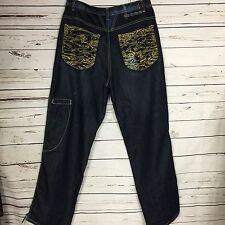 Marithe Francois Girbaud MENS Embroidered Denim Jeans Hip Hop Skater Sz 34M