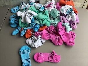 Women's Hue Cotton Blend Massaging Cushioned No Show Socks Medium 50 Pair #262R