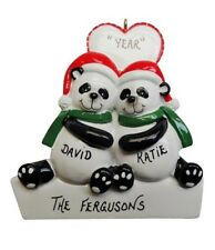 Personalized Panda Couple Christmas Ornament