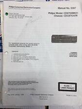 Philips CD875 / CD 875 CD Player Service Manual *Original*
