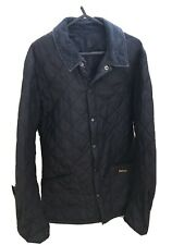 Barbour Mens Liddesdale Navy Quilted Jacket Size XS
