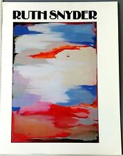 1981 Ruth Snyder Exhibition Ocular Art Magazine Catalog Periodical Washington DC