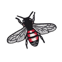 Fashionista Brand Style Bumble Bee Love Blind Craft Embroidered Patch Applique