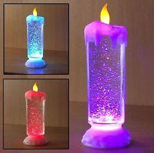 24cm Remolino LED Cambio De Color Luz De Vela sin llama parpadeante Brillo Navidad
