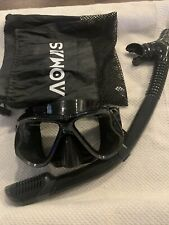 AOMAIS Adult Scuba AntiFog Goggles and Snorkeling Marsk Tube Tempered Glass