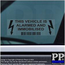 10 X este vehículo, Coche, Furgoneta, taxi, mincab, alarma, inmovilizador de Seguridad de la etiqueta engomada, Negro