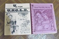 VINTAGE MAN FROM UNCLE FANZINE LOT OF 2 DIFFERENT FREE SHIPPING!  LOT 163