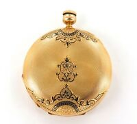 ".1800s STUNNING 18K GOLD CASE / ""CHAS. E PERRIN, GENEVA"" TWIN KEY POCKET WATCH."