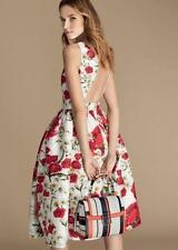 Dolce & Gabbana Floral Rose & Daisy Print Dress UK12 IT44 New