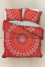 Indian mandala peacock duvet cover boho bohemian cotton pillow cover bedding set