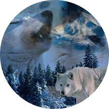4x4 Cubierta de rueda de repuesto 4 X 4 Camper Camper Gráfico Pegatina De Vinilo lobos 102